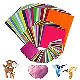 koitoy 80 Stück DIY Filzstoff,40 Farben Felt Fabric