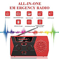 2020 Upgraded Version Emergency Solar Hand Crank Radio, Portable...