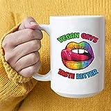 N\A Regalos de Taza de café de Sabor Mejor para Gays Veganos