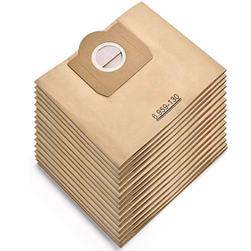 Rebirthcare 15 Stück Staubsaugerbeutel für Karcher 6.959-130.0 Filtertüten für WD 3 MV 3 Papierfiltertüten Wet & Dry Staubsauger Ersatz