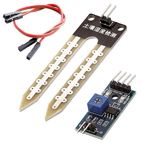 AZDelivery Sensori di Misurazione Umidità del Suolo Igrometro Moduli Umidità del Suolo compatibile con arduino incluso un E-Book!