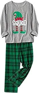 Christmas Matching Family Pajamas Boys Girls Pajamas Letter Plaid Sleepwear Children Clothes Toddler Jumpsuits