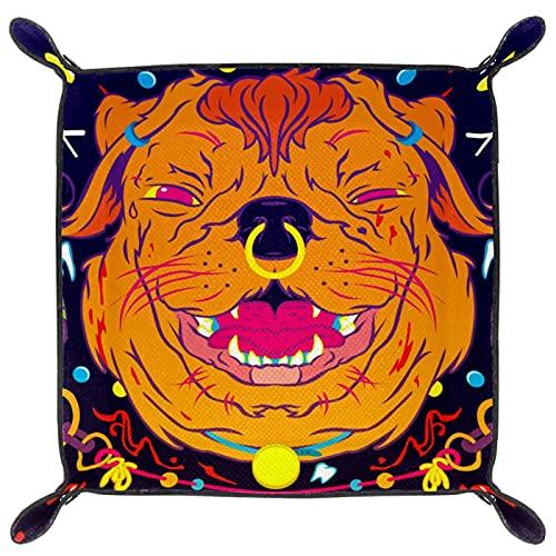 Bandeja de PU Cuero, Almacenamiento Organizador para Joyas, Caja Relojes, Llaves, Monedas, Teléfonos, Cartera, Moneda Lollipop de cachorro
