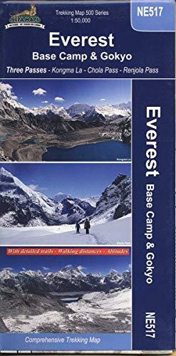 trekking Map Everest Basecamp & Gokyo, Three Passes 1:50.000