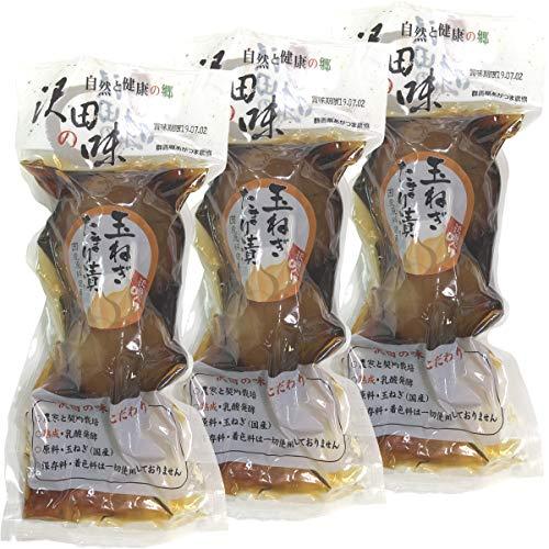 【国産原料使用】沢田の味 玉ねぎ たまり漬 200g×3袋セット 巣鴨のお茶屋さん 山年園