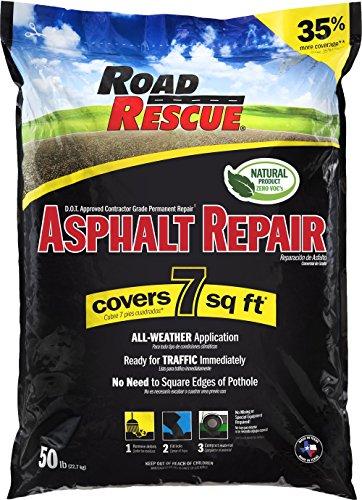 Road Rescue AP-500 50 lb. Asphalt Repair (10-Pack), Black