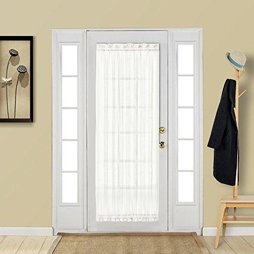 Aquazolax French Door Curtain for Long Door Windows Elegant Rod Pocket 25