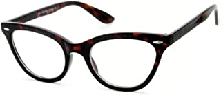 AStyles Vintage Inspired Half Tinted Frame Clear Lens Cat...