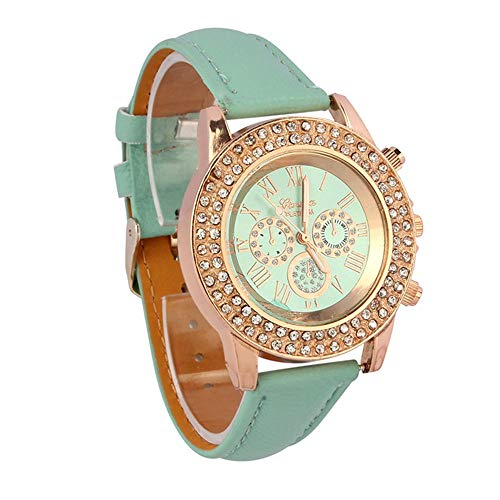 Watches for Women, Stekima Fashion Crystal Analog Display Dial Quartz Watches for Women Ladies Bracelet Bangle Wrist Watches for Party Club Casual Watches Stainless Steel