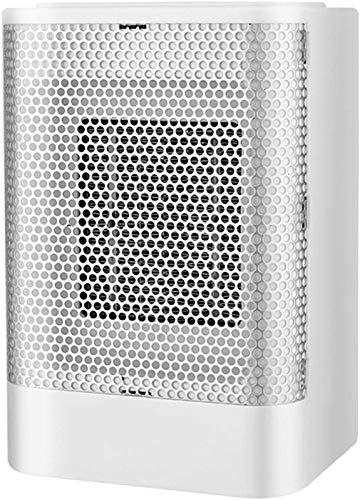 YSQ Mini tragbarer Lüfterheizung, Desktop-Keramik 800W elektrischer Heizgerät, mit Wärme- und Naturlüftereinstellungen, für Zuhause, Büro und Schlafzimmer