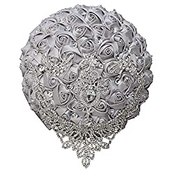 Silver Tassel Diamond Brooch Bride Wedding Bouquet