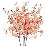 XHXSTORE 4pcs Tallo Flores Artificiales 80cm Flor Orquidea Artificial Jazmin Flores Plastico...