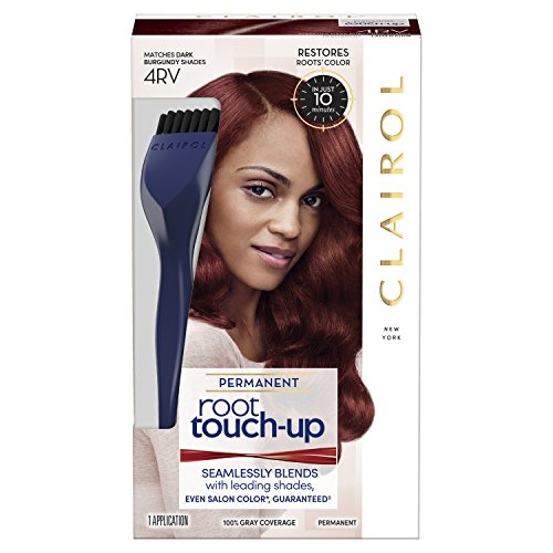 Clairol Root Touch-Up Permanent Hair Color Creme, 4RV Dark Burgundy, 1 Count
