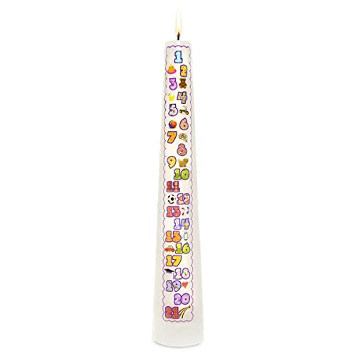 Celebration Candles New Contemporary 1 21 Year Countdown Numbered Birthday Candle White