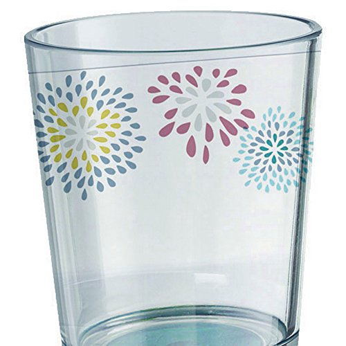 Belfiore Floral Patterned Glass (One Size) (Clear)