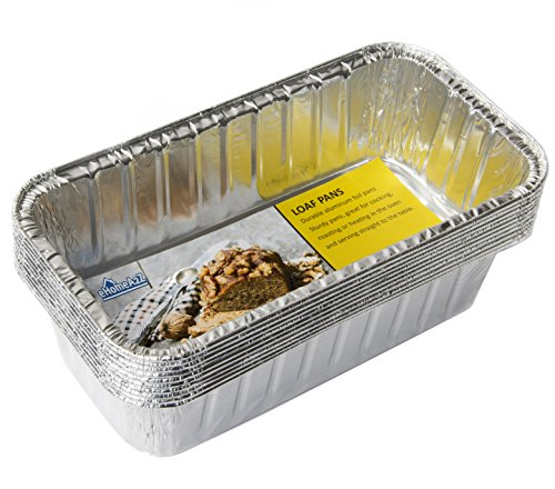 eHomeA2Z Aluminum Loaf Pans Disposable Heavy Duty For Bread, Cake 8.5 x 4.5 x 2.5 Inch (10)