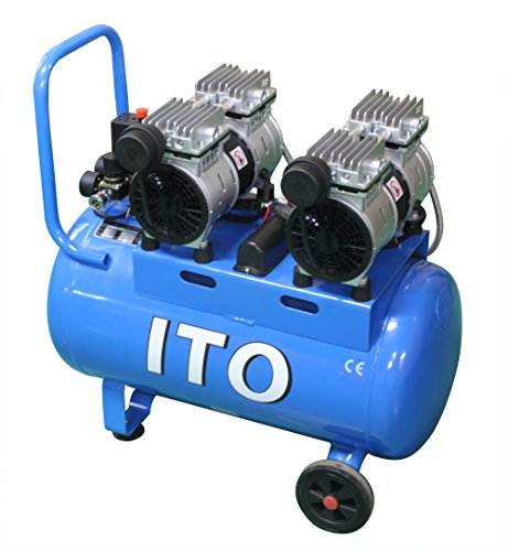SKTOKI ITO 静音 オイルレス ツイン エアー コンプレッサー 1100W 50L 整備