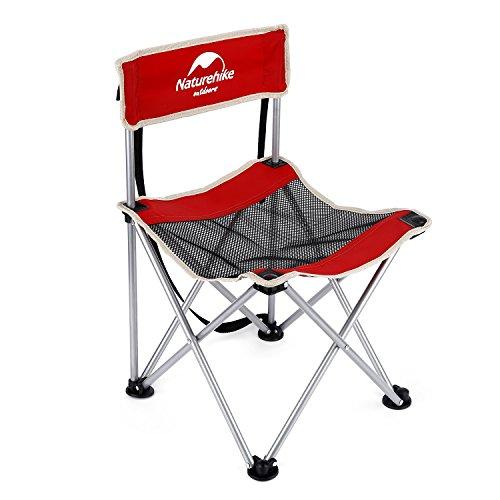 OUTAD faltbar Stuhl tragbaren und mobilen Stahl für Camping / Angeln / Wandern / Picnic (Gewichtsbelastung 150kg) (Rot)