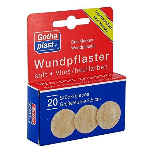GOTHAPLAST Wundpfl.soft Vlies 2,5cm Durchmesser, 20 St