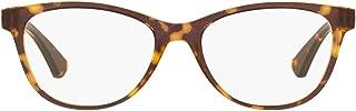 Oakley Women's OX8146 Plungeline Round Eyeglass Frames Non Polarized Prescription Eyewear, Amber Brown Tortoise/Demo Lens, 50 mm