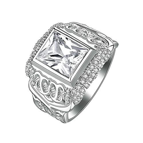 Adokiss Mujer no-metal-stamp (Fashion only) plata Prinzessschliff blanco Cubic Zirconia