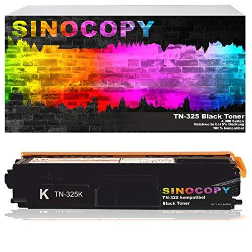 SinoCopy Toner ersetzt Brother TN-325 Black für Brother DCP-9055CDN, DCP-9270, HL-4140, HL-4150, HL-4570, MFC-9460CDW, MFC-9970, MFC-9560 - Schwarz 4.000 Seiten TN 325 TN 328