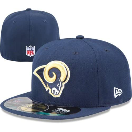 NFL Mens St. Louis Rams On Field 5950 Navy Game Cap By New Era 96b58cbbf