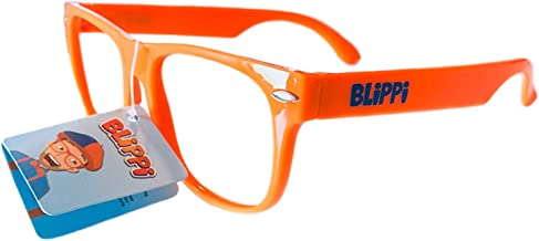TV Blippi Unisex Adult Glasses Costume Plastic Blippi Cap Orange Glasses Cosplay