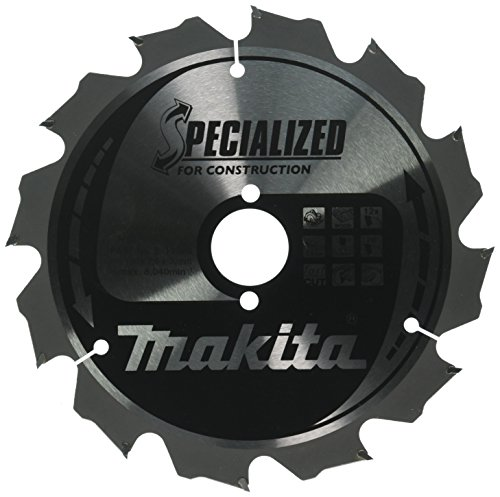 Makita B-13683 - Disco De Sierra Especial Construccion, 190 x 30 mm, eje de 30 grados