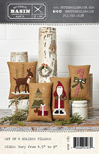 Set of 4 Holiday Christmas Pillows - by Buttermilk Basin - Wool Applique Pattern - BMB 1785