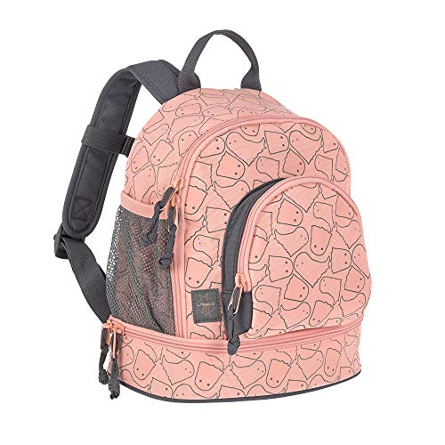 LÄSSIG Kinderrucksack Kindergartentasche mit Brustgurt/Mini Backpack Spooky, 27 cm, 5L, Peach