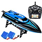 SkyCo H100 Rc Boat 2.4GHz High Speed Remote Control Boats for Kids and Adults. Electric RC Racing Boat Toy For Boys, Girls Outdoor Use BONUS EXTRA BATTERY
