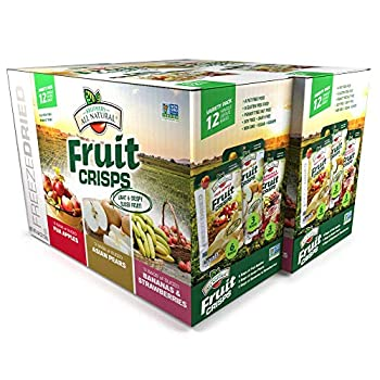 Brothers-ALL-Natural Fruit Crisps Variety Pack 4.44 Ounce Bag 12 Count  Pack of 2