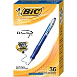 BIC Velocity Retractable Ball Pen, Medium Point (1.0mm), Blue, 36-Count, (Model: VLG361-BLU)