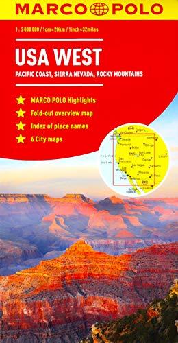 USA West Marco Polo Map [Idioma Inglés]
