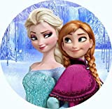 Anna, ELSA, Frozen, Eiskönigin Runde Tortenaufleger Eiskönigin 20CM - Geburtstag Tortenbild Zuckerbild Tortenplatte Oblate Kuchenzuckerplatte