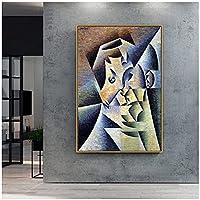 zkpzk フアングリス古い有名なマスターアーティストアーティストの母の肖像画キャンバス絵画部屋の壁の装飾のためのプリント壁アート-50X70Cmx1フレームなし