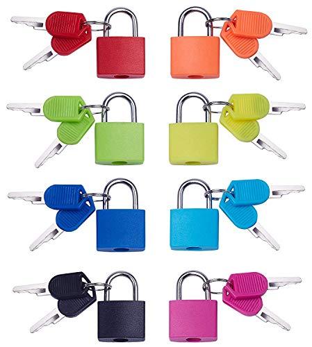 Piccolo Lucchetto con 8 Pezzi Lucchetti con chiave Chiavi per Sacchetto Dei Bagagli Valigia Accessori Serrature di Sicurezza per Zaino, borsa