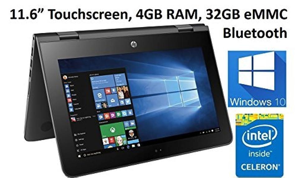 方法論感謝祭マラウイHP X360 11-AB011DX 11.6-Inch Touchscreen 2-in-1 Convertible Premium HD Laptop (Intel celeron N3060 4GB RAM 32GB eMMC Windows 10 Home) Black [並行輸入品]
