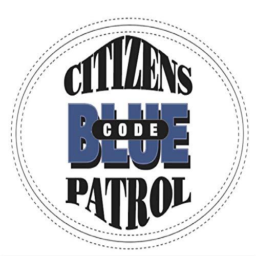 SHUNHUI Pegatinas De Patrulla De CóDigo Azul De Ciudadanos, Pegatinas De Coche con ProteccióN Solar A Prueba De Agua (2 Hojas)