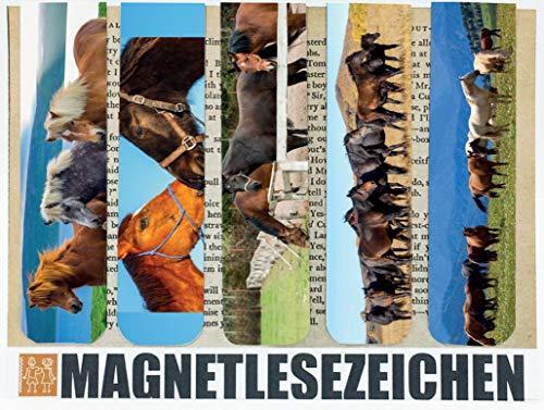 Lesezeichen Magnetisch Kinder Magnetische Lesezeichen 5 Stück 10 x 2,5 cm Schule Page Seiten Marker Book Marks Tiere Süße Pferde Horse Mitgebsel Pferdemotiv Kindergeburtstag