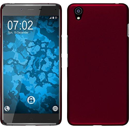 Preisvergleich Produktbild PhoneNatic Case kompatibel mit OnePlus X - Hülle rot gummiert Hard-case + 2 Schutzfolien