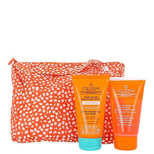 Crema Solare Protezione Attiva SPF 30 Pelli Ipersensibili + Doccia Shampoo Doposole + Pochette