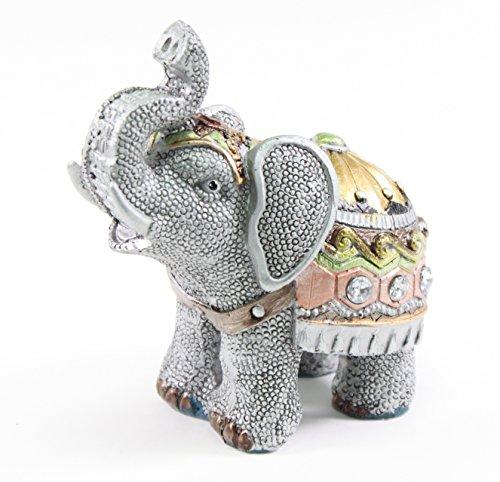 W Feng Shui 4.5'(H) Elephant Wealth Lucky Figurine Home Decor Housewarming Gift (G16240)