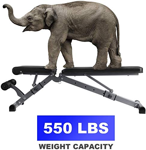 Adjustable Weight Bench, Kitopa Utility Workout Bench for Home Strength Training, Gym Incline Decline Bench for Full Body Exercise