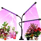 Led Grow Light for Indoor Plants and Potted Plants 3 Heads Timing Planting Lights (3/9/12...