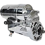 DB Electrical SHD0009-C Chrome Starter Compatible With/Replacement For Harley Davidson 1989-Up 1340CC, 12 Volt, CW, 2.0KW /31558-90