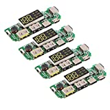 Gaetooely 4Pcs 18650 Tablero de Carga Dual USB 5V 2.4A MóDulo de Banco de EnergíA MóVil 186 50 Tablero de Cargador de BateríA de Litio con Sobredescarga ProteccióN contra Cortocircuitos