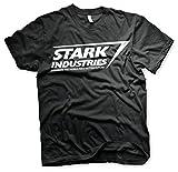 Offizielles Lizenzprodukt Stark Industries Logo Herren T-Shirt (Schwarz), X-Large