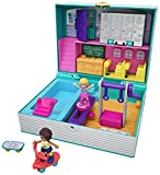 Polly Pocket Pocket World Mini Middle School Compact with 3 Reveals, 3 Accessories, 2 Micro Dolls & Sticker Sheet; For Ages 4 and Up [Amazon Exclusive]